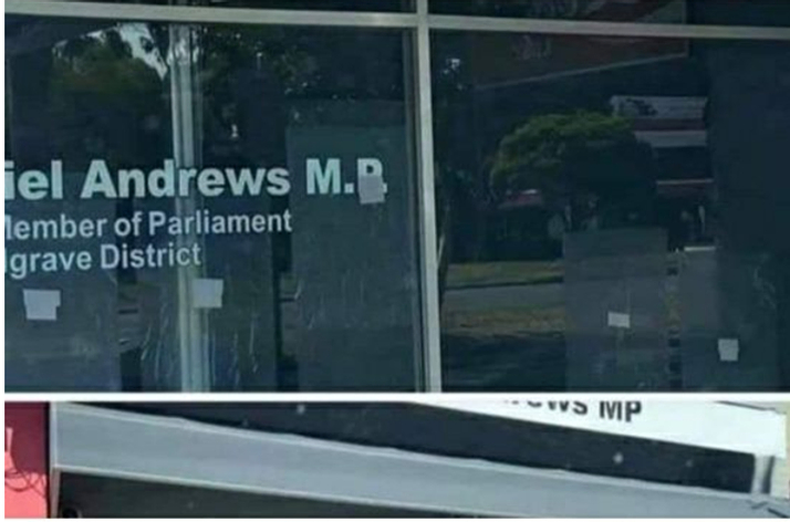 Breaking News! Daniel Andrews Offices Shot Up With Five Bullets.