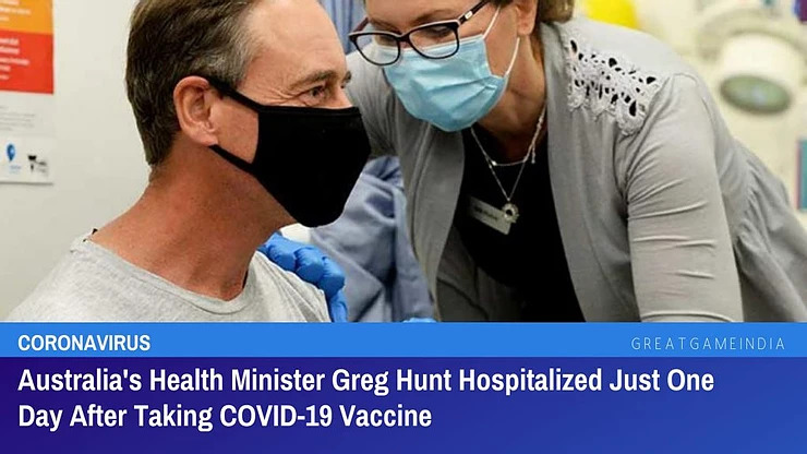 Greg Hunt Australian Health Minister – A lesson for us all