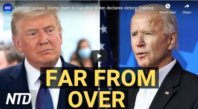 Election update: Trump team to sue after Biden declares victory; Celebrations, protests break out