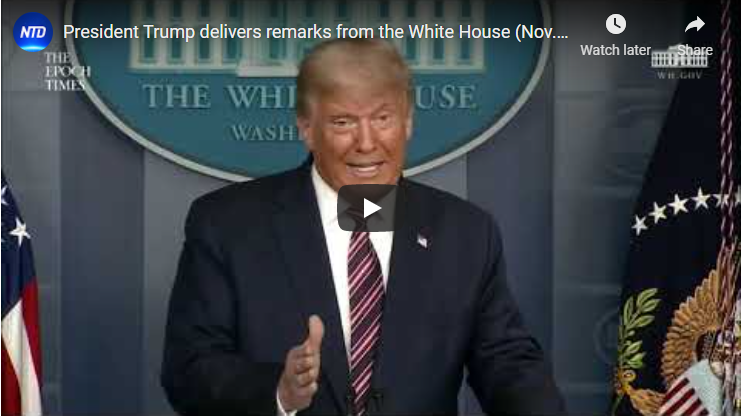 LIVE: President Trump delivers remarks from the White House (Nov. 5) | NTD